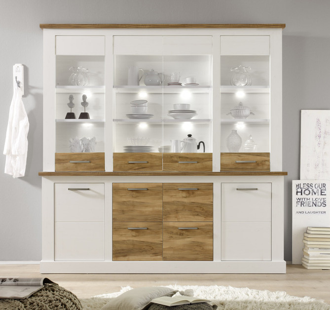 credenza moderna molto grande target vetrina bianca di. Black Bedroom Furniture Sets. Home Design Ideas