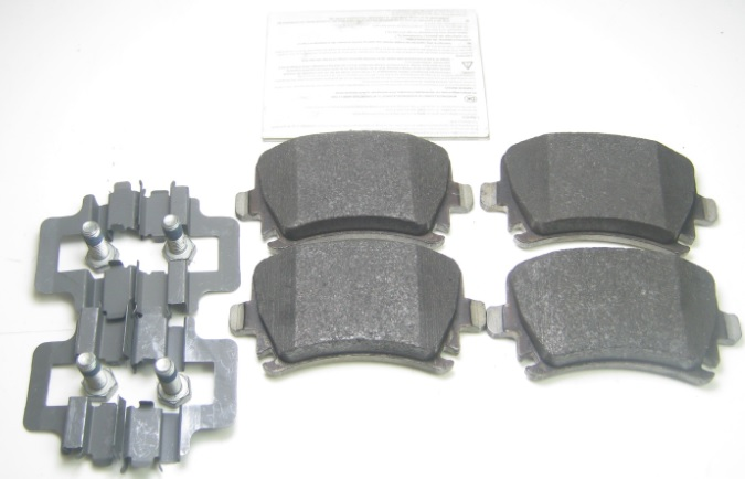 genuine audi a4 b7 seat exeo rear brake pads 4 288mm discs 1kw 8e0 698 451 f ebay. Black Bedroom Furniture Sets. Home Design Ideas