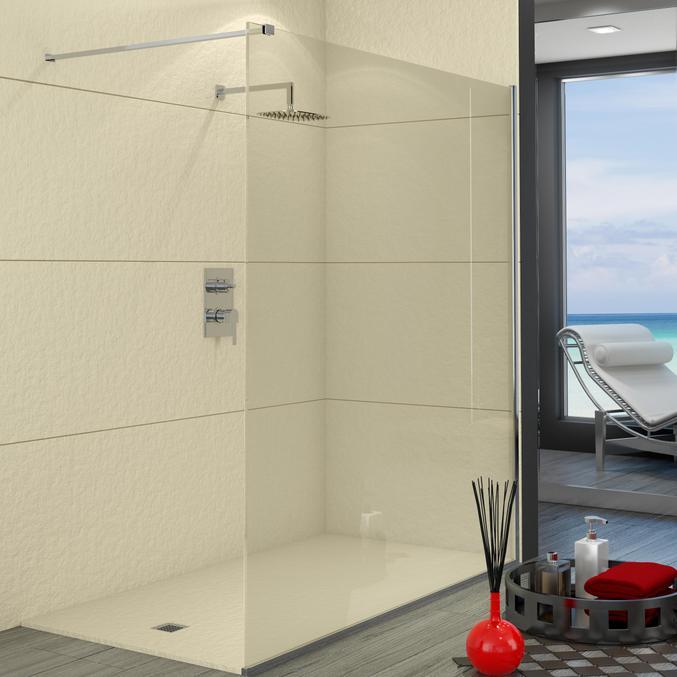 Parete In Vetro Doccia : Parete doccia in vetro temperato di mm ebay