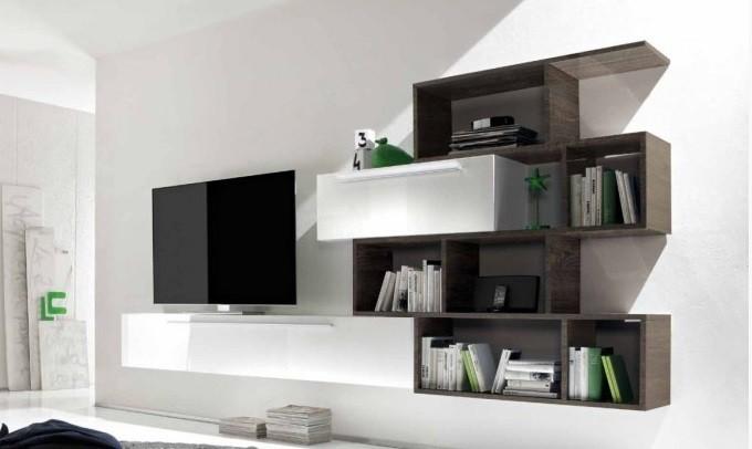 libreria moderna bali, mobile soggiorno di design, arredo wengè ... - Arredamento Soggiorno Wenge