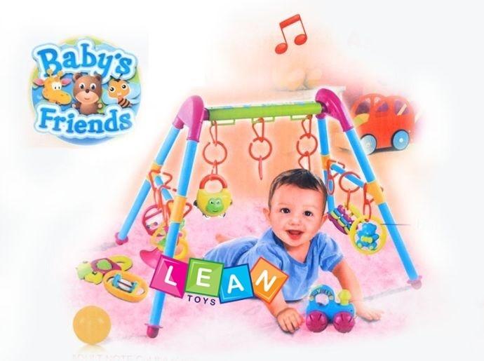 spielcenter f r babys mit rasseln spieltrainer spielbogen gym spieltrapez baby ebay. Black Bedroom Furniture Sets. Home Design Ideas