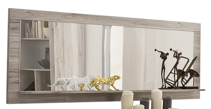 Specchio moderno perla con mensola, decorazione per soggiorno ...