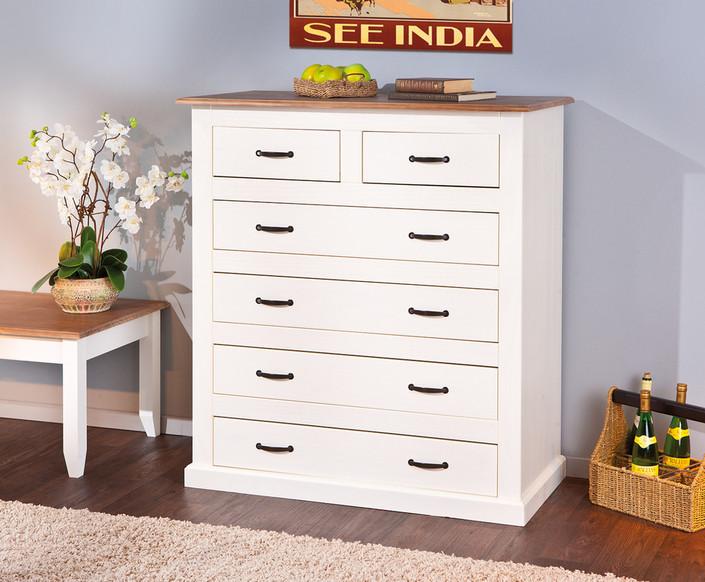 Cassettiera Ufficio Legno Massello : Cassettiera bianca nora mobile soggiorno in legno massiccio