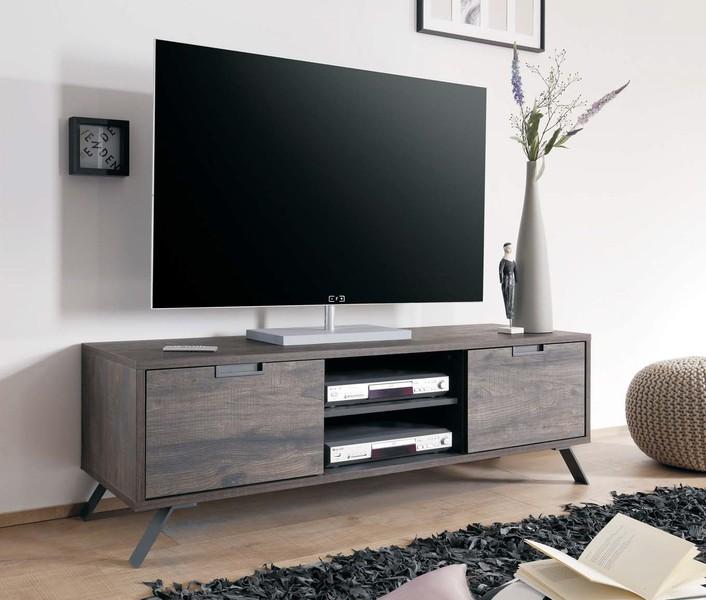 Mobile porta tv Ligabue tinta wengè LHP cm. 156x51x50, per ...