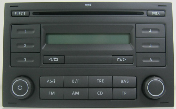 genuine vw polo 9n3 rcd200 rcd 200 cd player radio stereo. Black Bedroom Furniture Sets. Home Design Ideas