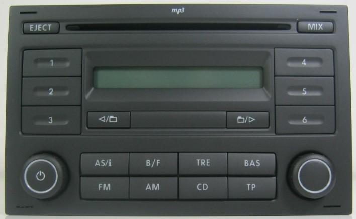 genuine vw polo 9n3 rcd200 rcd 200 cd player radio stereo