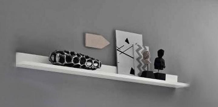Mensola moderna bali, arredo soggiorno design, complemento bianco ...
