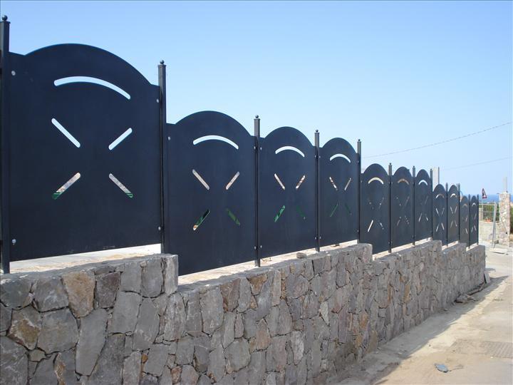 Pannello standard recinzione modulare in lamiera ferro for Stima del costo di due auto garage