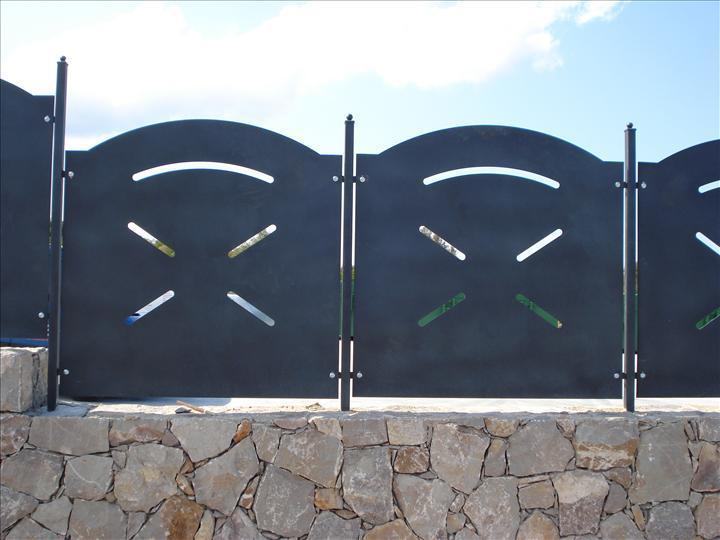 Pannello standard recinzione modulare in lamiera ferro for Ringhiere prefabbricate prezzi
