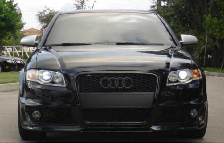 Audi Ringe Black Schwarz GLANZ Grill Emblem Heck A3, A4, A5, A6, A8 ...