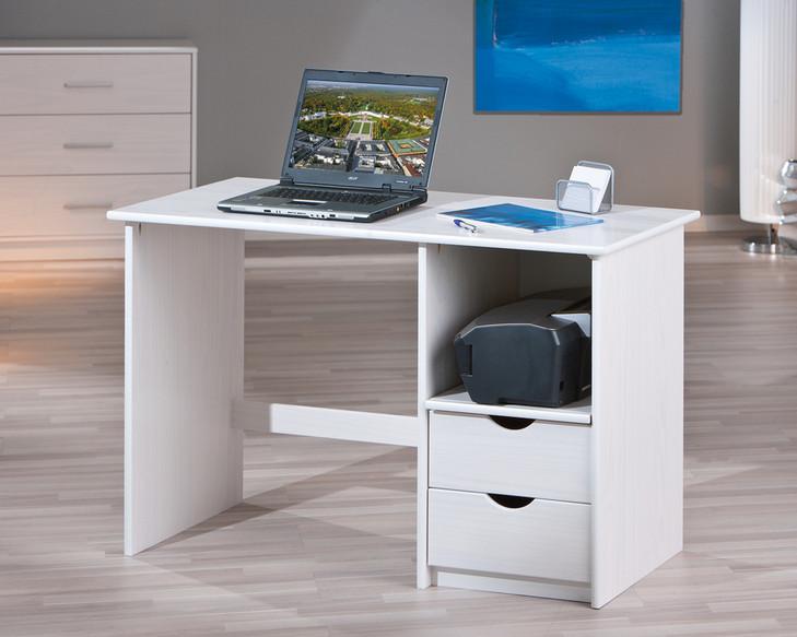 Scrivania bianca moderna turen mobile porta computer per for Consolle scrivania moderna