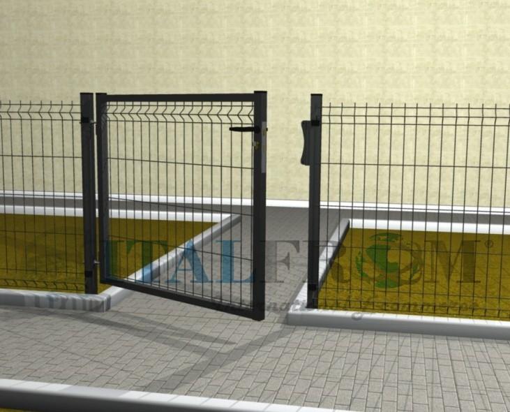 Recinzione Giardino In Ferro.Cancello Cancelletto Pedonale In Ferro Per Recinzione In Rete