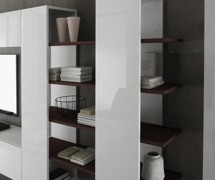 Composizione soggiorno moderno bali 3 parete di design for Mensole grigie