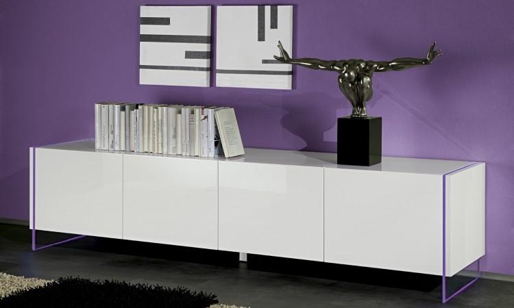 Lux 09 porta tv moderno portatv,mobile moderno,soggiorno bianco ...