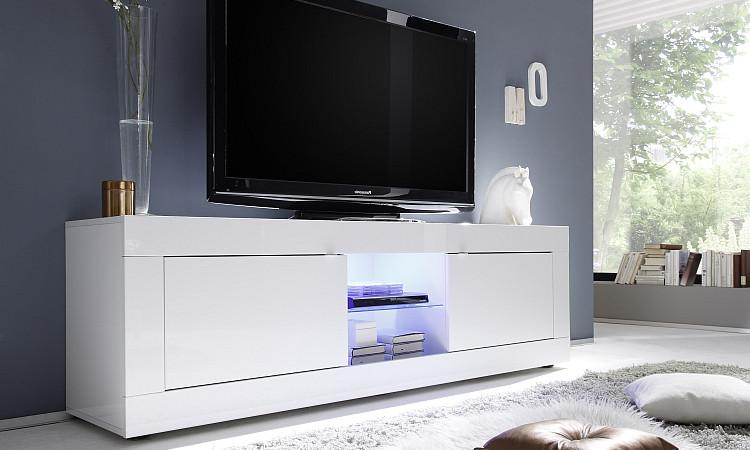 Square A31 porta TV moderno, mobile per soggiorno design, scelta fra 3 colori