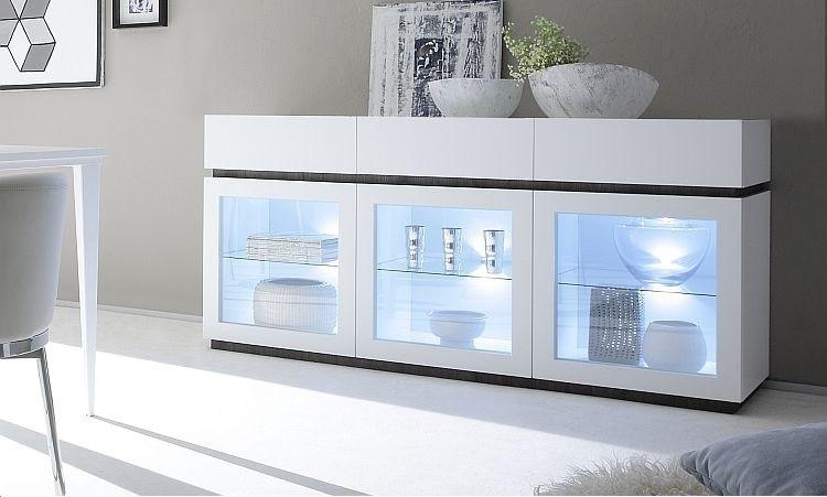 ... con 3 ante e 3 cassetti, mobile per soggiorno moderno e di design