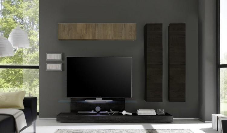 Parete porta tv moderna aria co1 mobili composizione for Mobili ufficio wenge