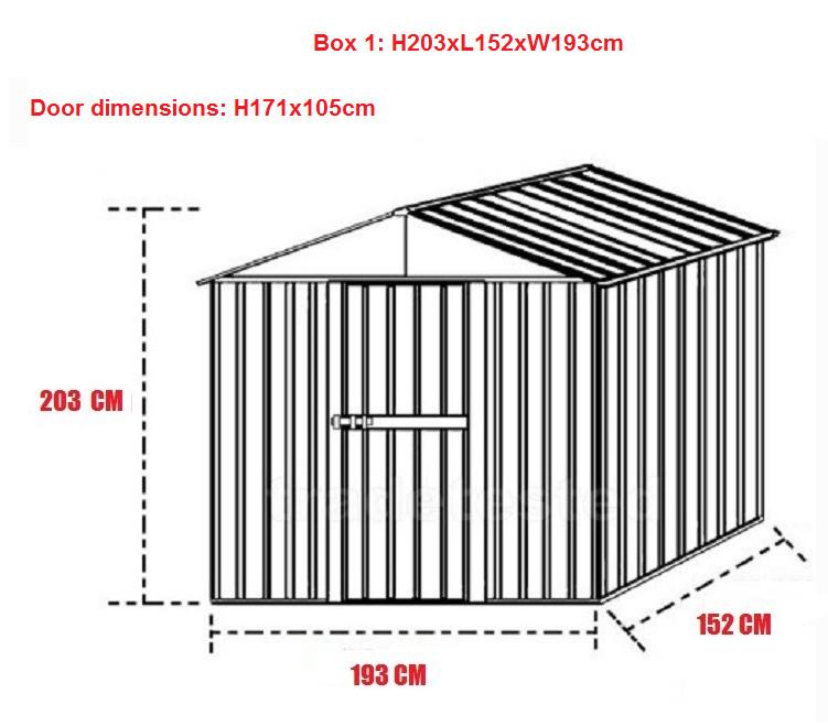 metall gartenhaus gartenschuppen ebay. Black Bedroom Furniture Sets. Home Design Ideas