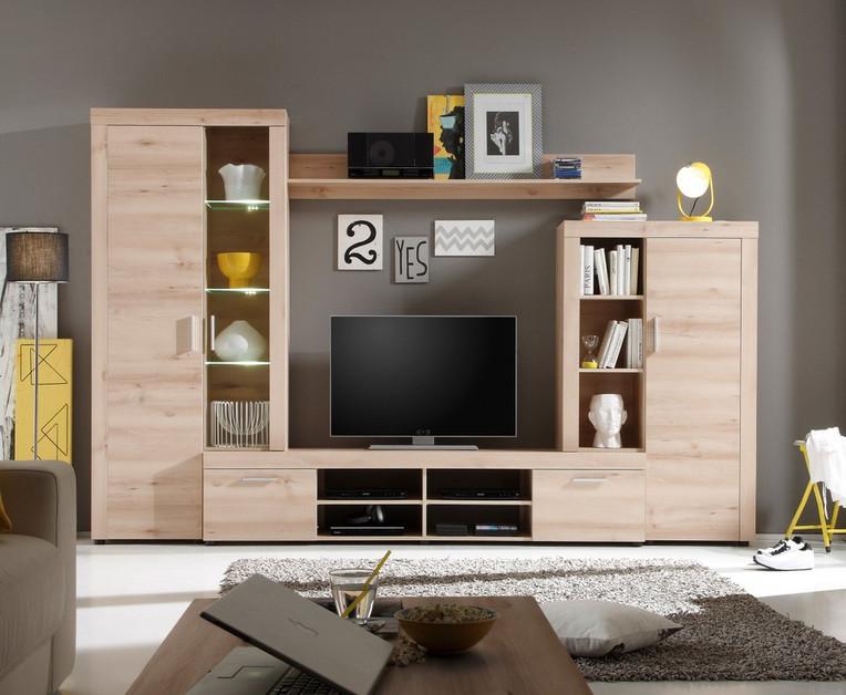 Soggiorno moderno IAGO, composizione mobile porta tv con led parete design nuova  eBay