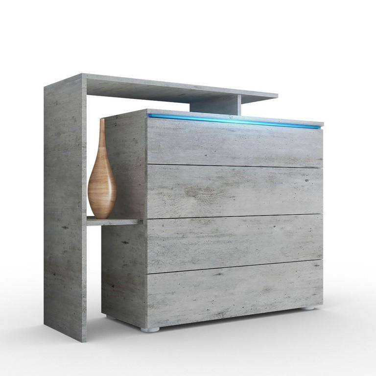 Moderno mobile soggiorno design credenza cassettone buffet calcestruzzo look ebay for Credenza moderna ikea