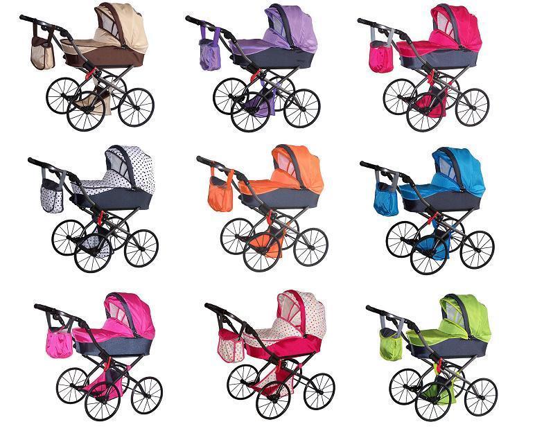 puppenwagen retro puppenkinderwagen kinderwagen neu baby ebay. Black Bedroom Furniture Sets. Home Design Ideas