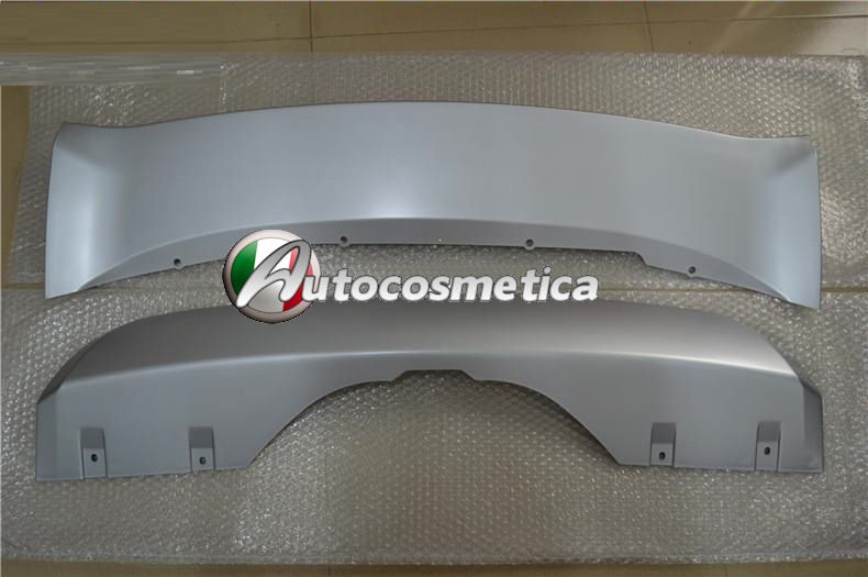 piastre protezione in abs argento paraurto anteriore+posteriore BMW X5 F15 2014/>