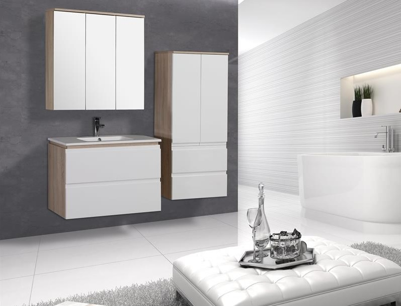 Mobile bagno sospeso markus design moderno rovere e - Mobile bagno moderno economico ...