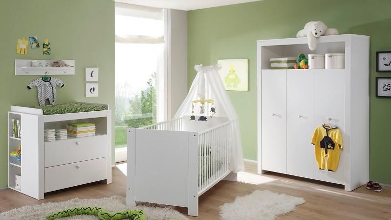 ... bianca per bambini Aida, camerette moderne, con armadio e fasciatoio