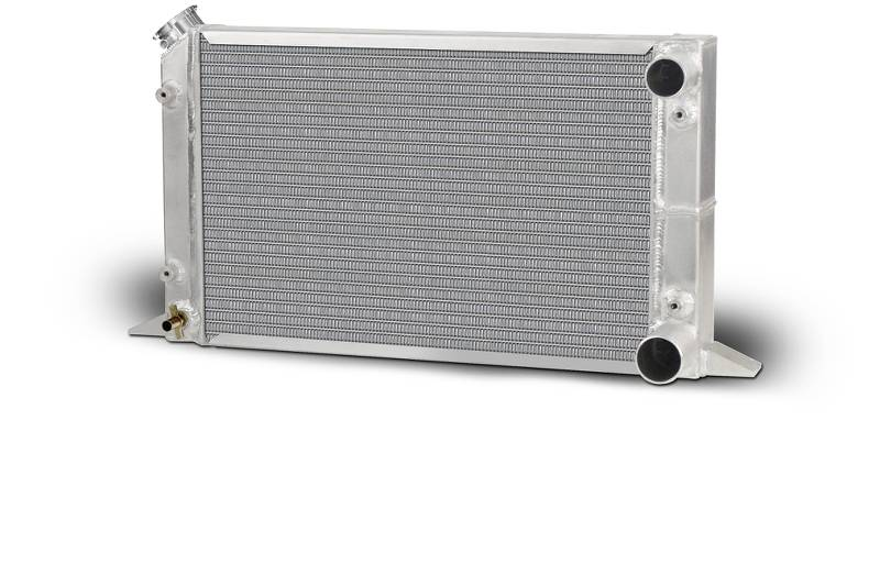"Lightweight Single Row Sirocco Radiator-RH Double Pass w/filler top left 1.25"" in /1.25"" Outlet"