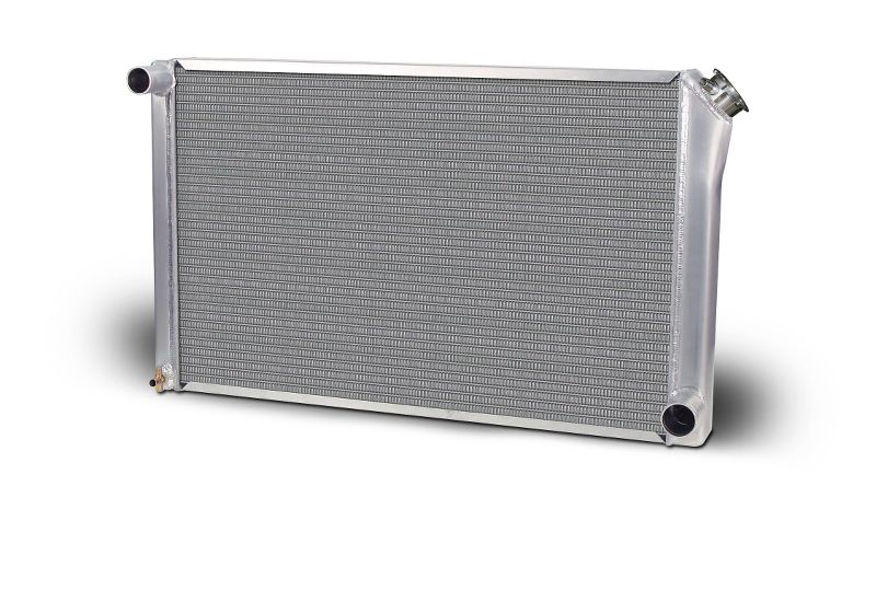 Aluminum Polish  Radiator  Drag/Performance  31 Inch  Single Pass  Chevy