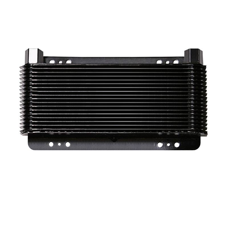 Oil Cooler, 8 x 11 x 1-1/2 Inch, 36-PaSS Stacked Plate