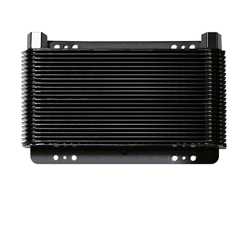 Oil Cooler, 11 x 11 x 1-1/2 Inch, 48-PaSS Stacked Plate