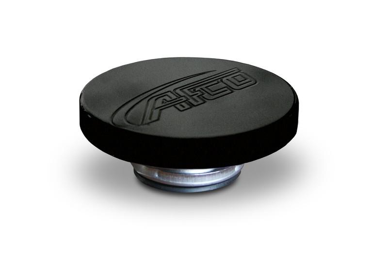 Billet   Aluminum  Radiator   Cap  Logo  Black