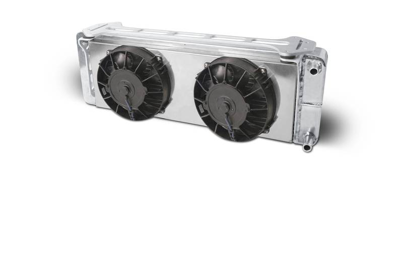 "Aluminum Satin  Heat Exchanger with dual fans  1999-04 Ford Lightning/F150    Double Pass  (L - 26-3/8"") X (W - 5-3/8"") X (H - 8-7/8"")"