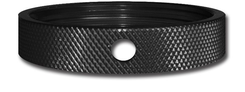 Black Jam Nut For  Small Body Threaded Dual Stage Spring Setup