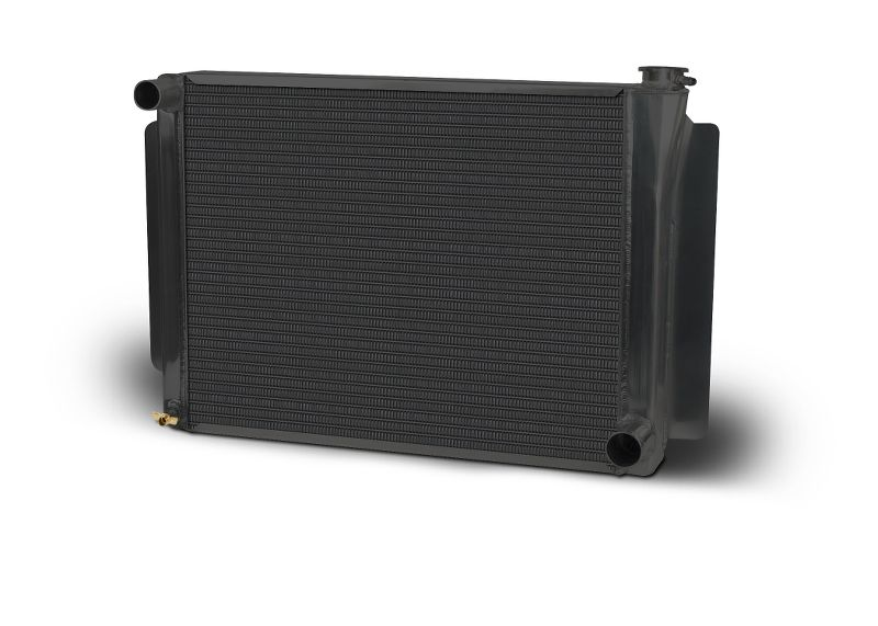 Aluminum Black  Radiator  Drag/Performance  26 Inch  Single Pass  Chevy