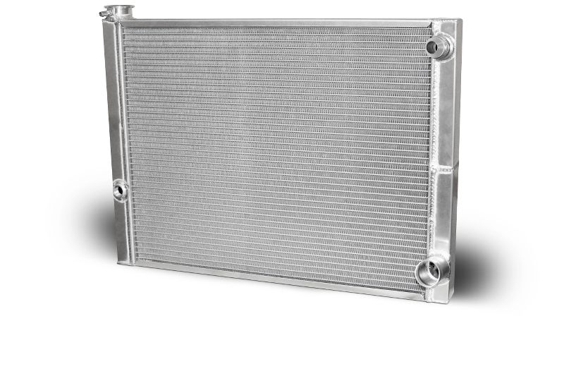 Double Pass Radiator Chevy 27.5 X 19 X 1.50 Core, 16 AN Male Inlet