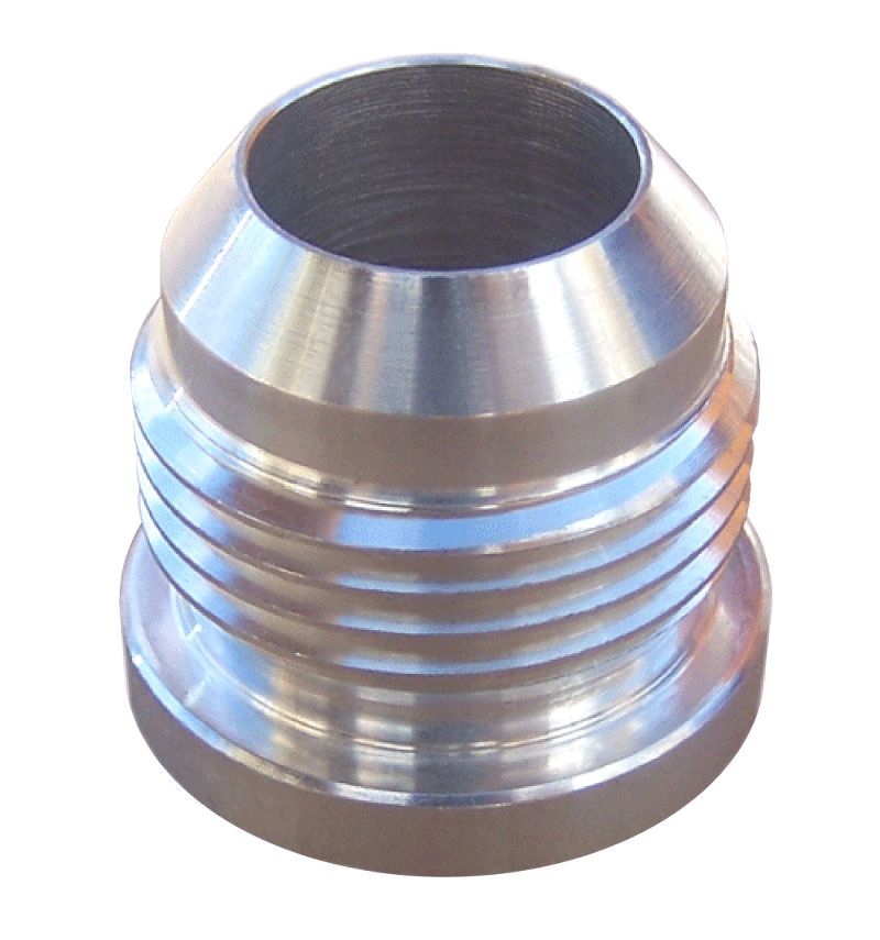 Aluminum  Weld-On Fitting  10 AN Male