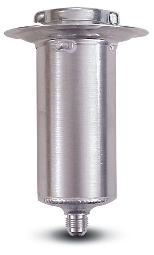 Aluminum  Rear End Filler  8-1/2 Inch Tall  10 An Outlet  1/4 Turn Cap