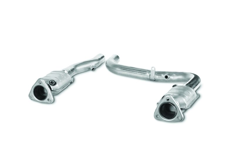 Catted Section Intermediate Tubes   Truck And SUV  1999-2004  5.4L  Lightning Harley  2.50 Inch  304 Stainless Steel