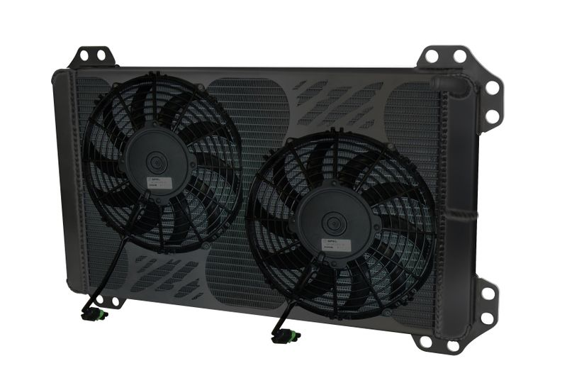 Heat Exchanger 2010 & Up Ford Raptor/F150  With Fans Black