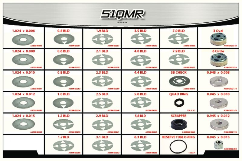 51 Series  Quarter Midget Shock  Rebuild Component Kit