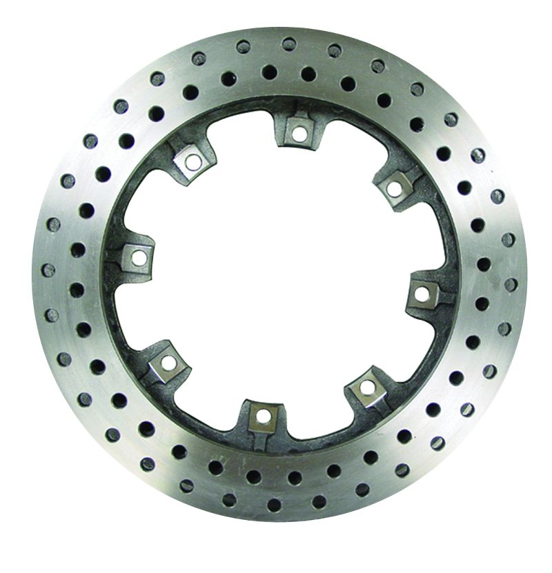 Cast Iron  Brake Rotor  Drilled  Straight 32 Vane  1.25 Inches Thick  11 3/4 Inches Diameter  8 Bolt