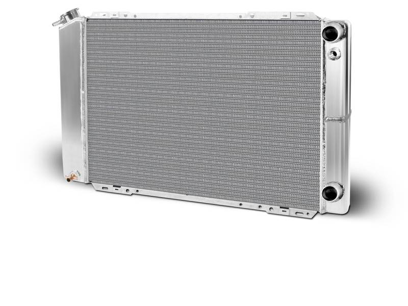 Aluminum  Radiator  Mustang Drag    Double Pass  Chevy LSX