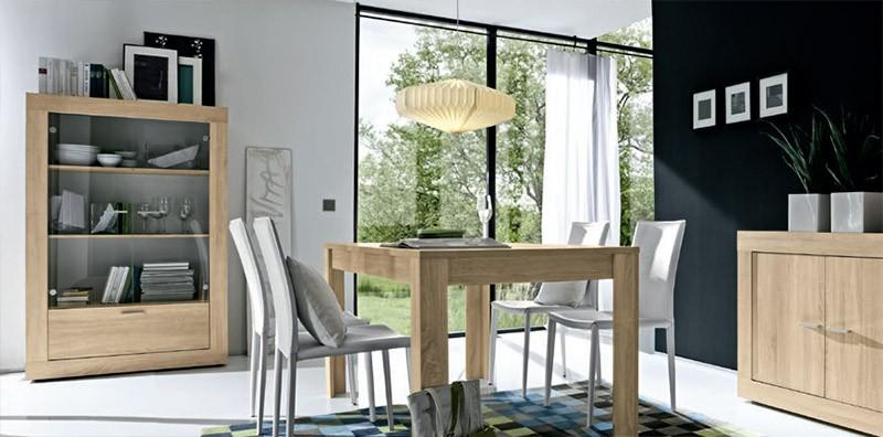 Vetrina moderna roger r4, mobile soggiorno o ufficio in rovere di ...