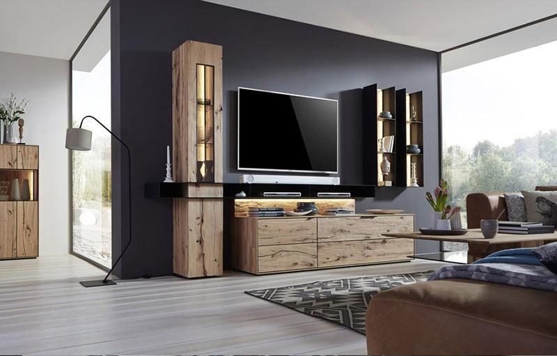porta tv in legno kali, mobile soggiorno portatv unico e ... - Mobile Soggiorno Particolare 2