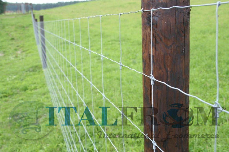 200mt galvanized knotted wire mesh roll pig sheep cattle for Recinto elettrico per capre