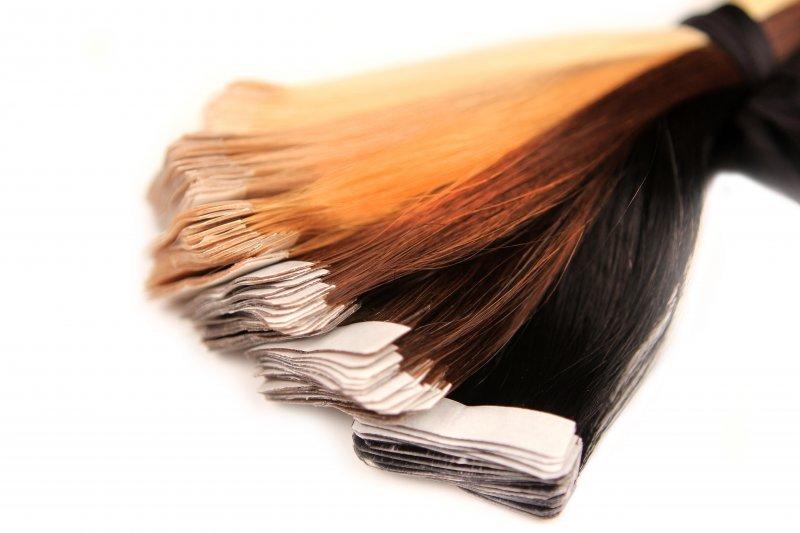 extension tape bande adhesive cheveux 100 naturels remy hair 53 cm aux choix ebay. Black Bedroom Furniture Sets. Home Design Ideas
