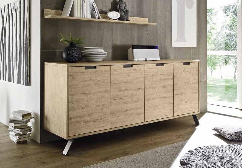 Credenza Per Soggiorno : Madia moderna mobile soggiorno ante credenza in sherwood oak