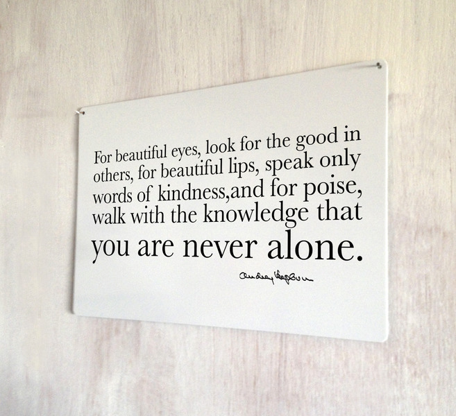 Shakespeare Quotes On Beautiful Eyes: Audrey Hepburn Beautiful Eyes Quote Sign A4 Metal Plaque